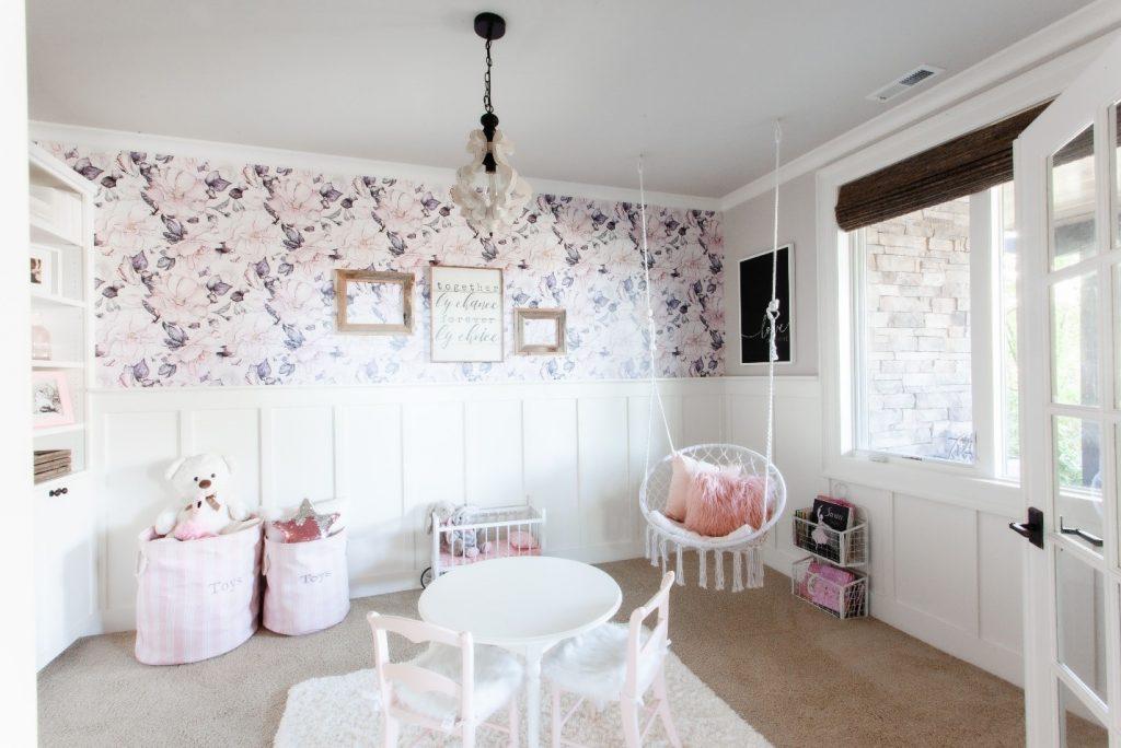 girls playroom wall decal