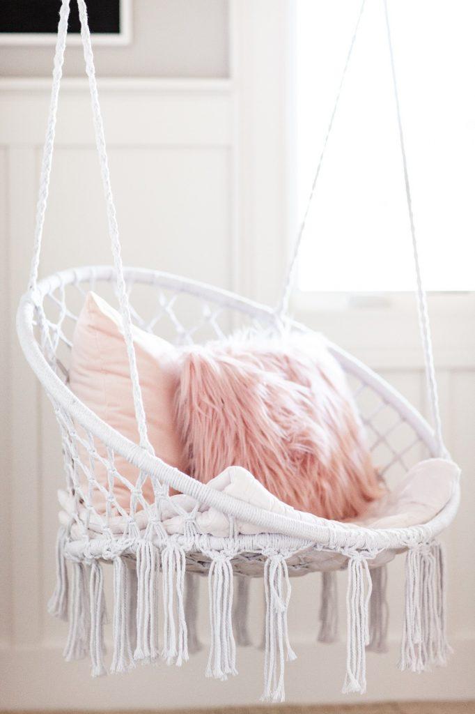 white swing in girls room